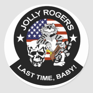 VF-84 Jolly Rogers Classic Round Sticker