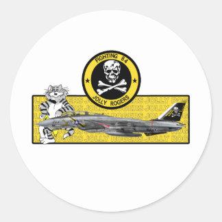 VF-84 ROGERS ALEGRE F-14 TOMCAT PEGATINA REDONDA