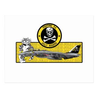 VF-84 ROGERS ALEGRE F-14 TOMCAT TARJETA POSTAL