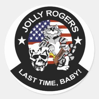 VF-84 Rogers alegre Etiquetas Redondas