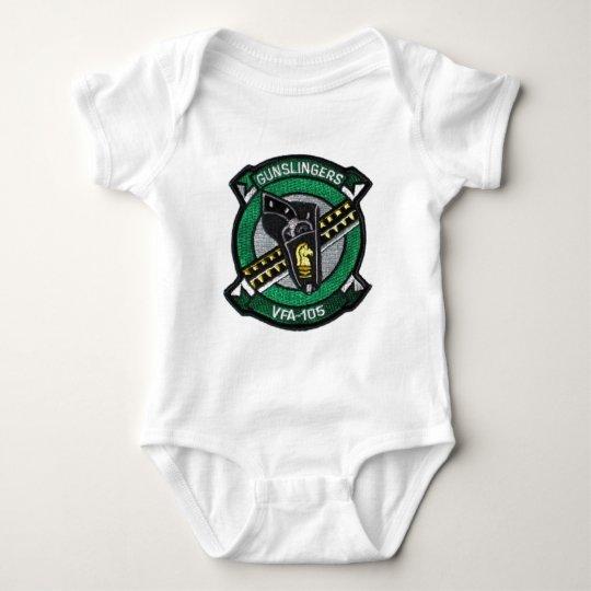 vfa-105 squadron patch baby bodysuit