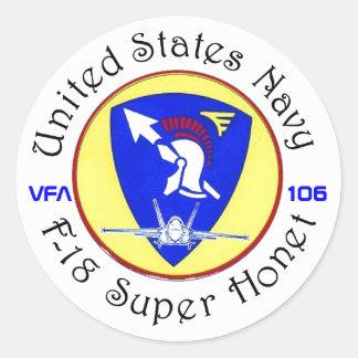 VFA-106 GLADIATORS CLASSIC ROUND STICKER