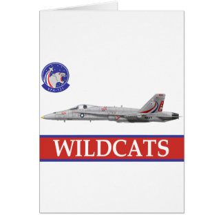 VFA-131 WILDCATS Squadron with F-18 Card