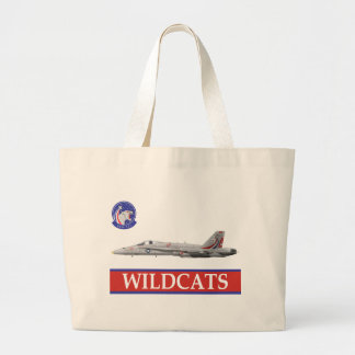 VFA-131 WILDCATS Squadron with F-18 Large Tote Bag