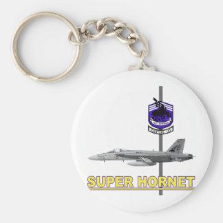 """VFA-143 """"Pukin' Dogs"""" F-18 Hornet Basic Round Button Keychain"""