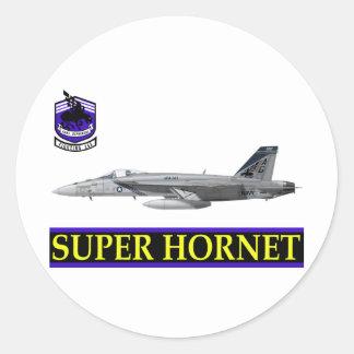 VFA-143 Pukin Dogs F-18 Hornet Round Sticker