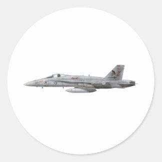 VFA-147 F18C ROUND STICKERS