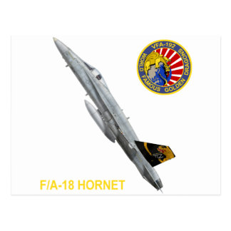 VFA-192 GOLDENDRAGONS Squadron Patch Postcard