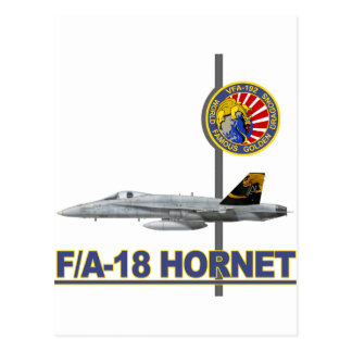 VFA-192 GOLDENDRAGONS Squadron Patch Post Card