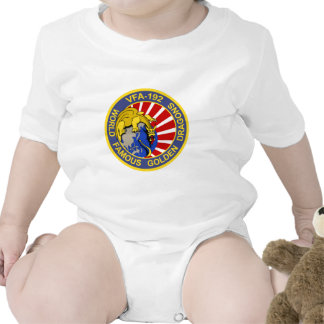 VFA-192 GOLDENDRAGONS Squadron Patch Baby Creeper