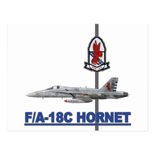 vfa-22 Fighting Redcocks F-18 Hornt Postcard