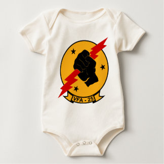 VFA - 25 Fighter Squadron Fist Of The Fleet Baby Bodysuit