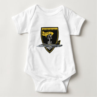 VFA-27 Royal Maces F/A-18 Baby Bodysuit
