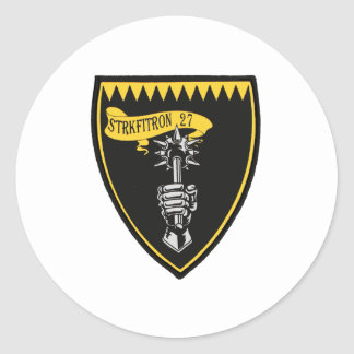 VFA-27 Royal Maces F/A-18 Classic Round Sticker