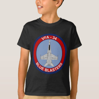 VFA - 34 Fighter Squadron - Blue Blasters T-Shirt