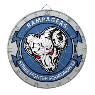 VFA - 83 - Strike Fighter Squadron 83 Dartboard With Darts