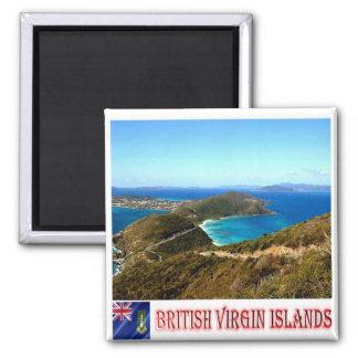 VG - British Virgin Islands - Gorda Peak 2 Inch Square Magnet