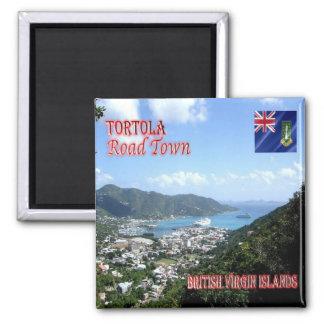VG - British Virgin Islands - Tortola - Road Town 2 Inch Square Magnet