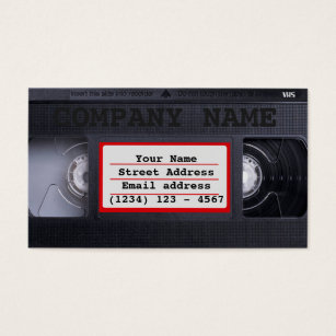 Film producer business cards templates zazzle vhs business card colourmoves Image collections