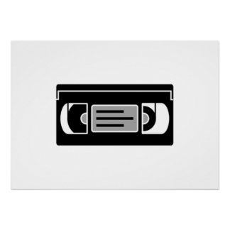 VHS Cassette Tape Posters