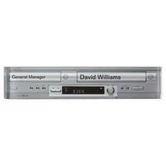 Vhs Dvd Player Faceplate Desk Name Plate