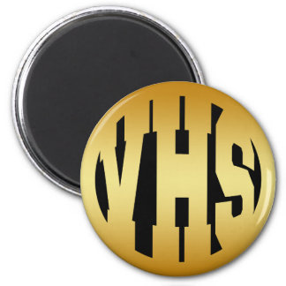 VHS - HIGH SCHOOL INITIALS IN GOLD TEXT MAGNET