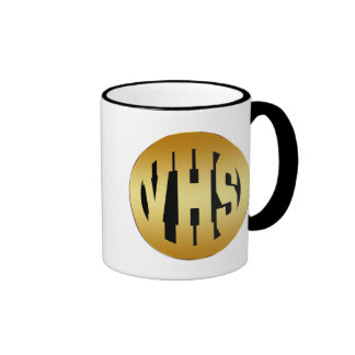 VHS - HIGH SCHOOL INITIALS IN GOLD TEXT COFFEE MUGS