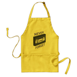 VHS, Never Forget Adult Apron