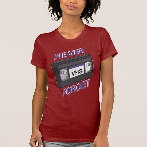 VHS, nunca olvida Playera
