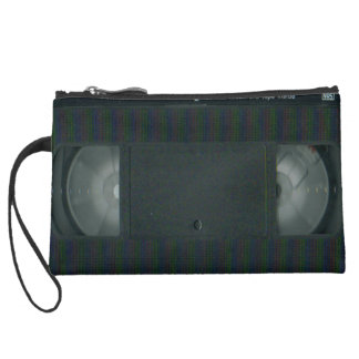 VHS video tape Suede Wristlet Wallet