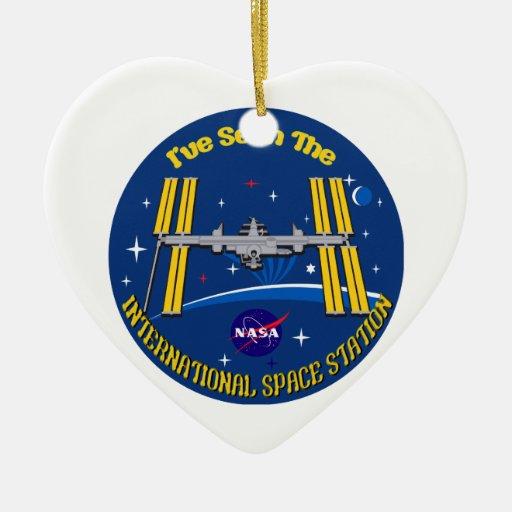 ¡Vi el ISS!! Adorno De Cerámica En Forma De Corazón