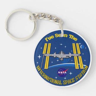 ¡Vi el ISS!! Llavero Redondo Acrílico A Doble Cara