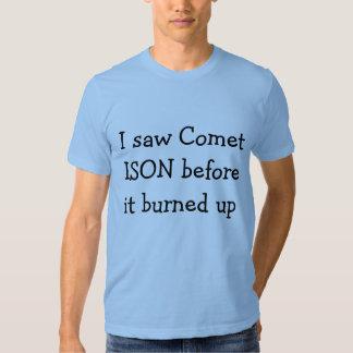 Vi la camisa del cometa ISON