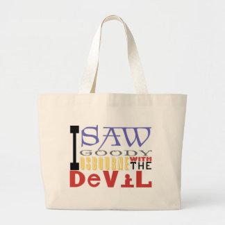 Vi la chuchería Osbourne con el diablo Bolsa Tela Grande