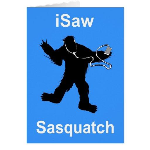 vi la música de Sasquatch Tarjetas