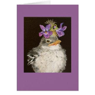 VI la tarjeta del mockingbird del bebé