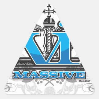 VI Massive Apparel Blue Triangle Sticker
