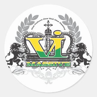 VI Massive Classic Colors Classic Round Sticker