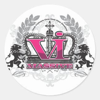 VI Massive PrettyPink Classic Round Sticker