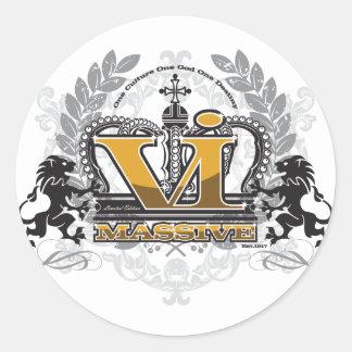 VI Massive Pride Design Classic Round Sticker