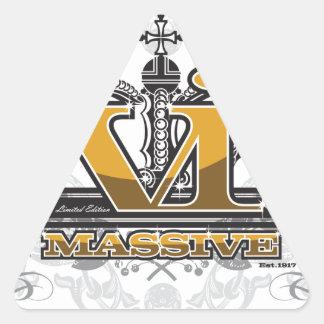 VI Massive Pride Design Triangle Sticker