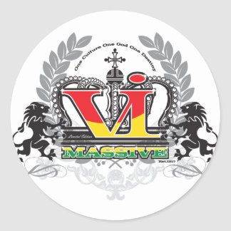 VI Massive 'Ras' Colors Classic Round Sticker