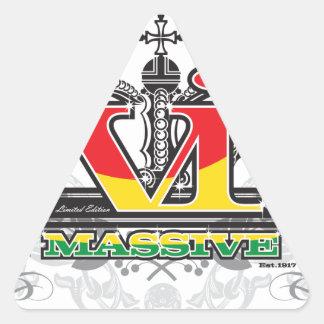 VI Massive 'Ras' Colors Triangle Sticker