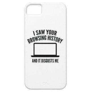 Vi que su historia y ella de la ojeada me disgusta iPhone 5 funda
