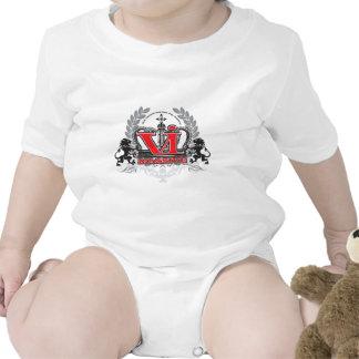 VI rojo masivo Trajes De Bebé