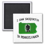 Vi Sasquatch en Pennsylvania Imanes Para Frigoríficos
