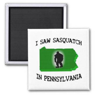 Vi Sasquatch en Pennsylvania Imán Cuadrado
