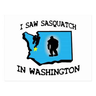 Vi Sasquatch en Washington Tarjetas Postales
