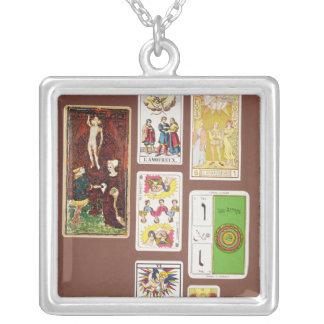 VI The Lovers Square Pendant Necklace
