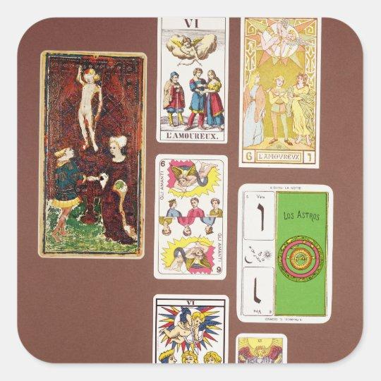 VI The Lovers Square Sticker